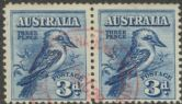 SG 106 ACSC 133 1928 3d Fourth National Stamp Exhibition pair, exhibition cancel in red (AG6/625)